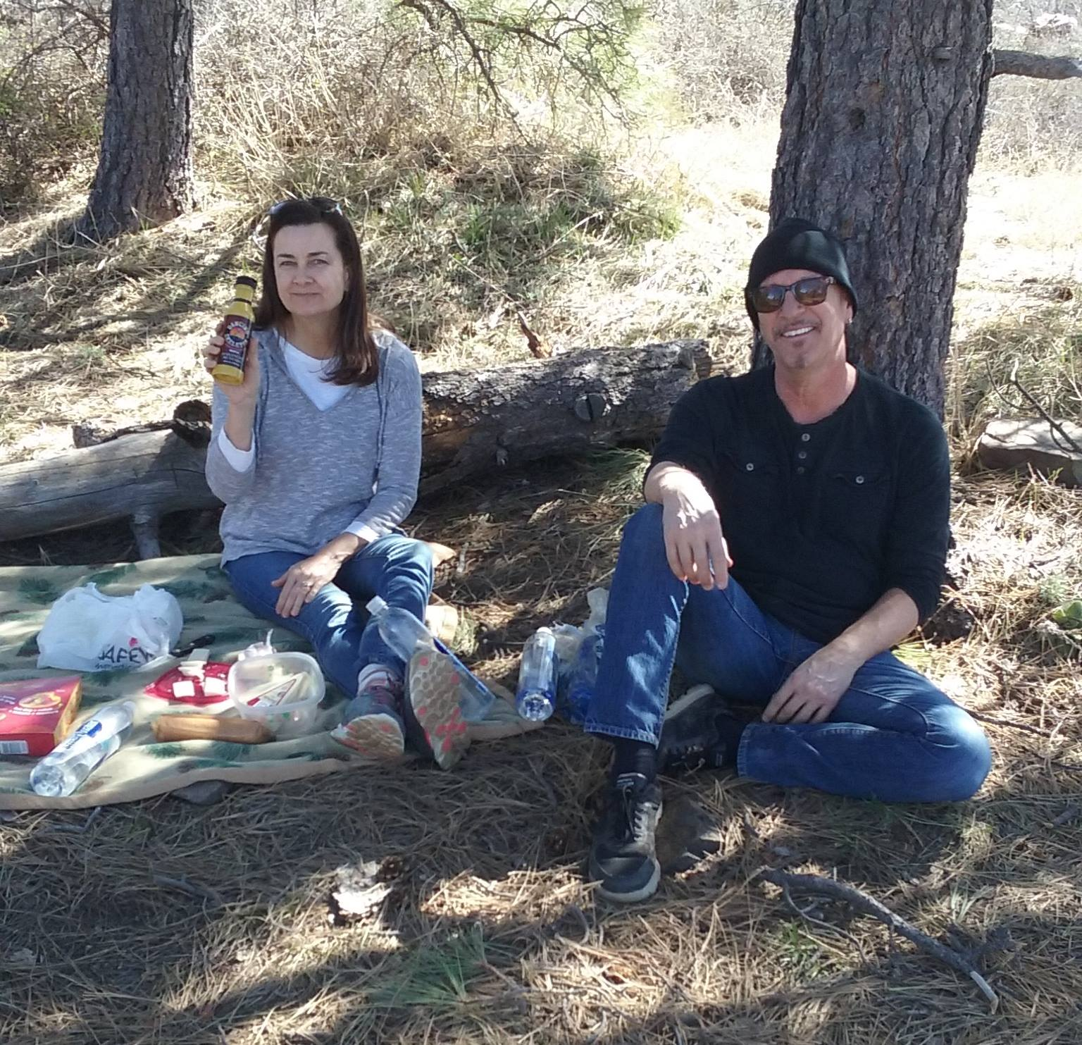 Having a picnic with @StevenThePirate on the summit of Mt. Tritle in Prescott, AZ